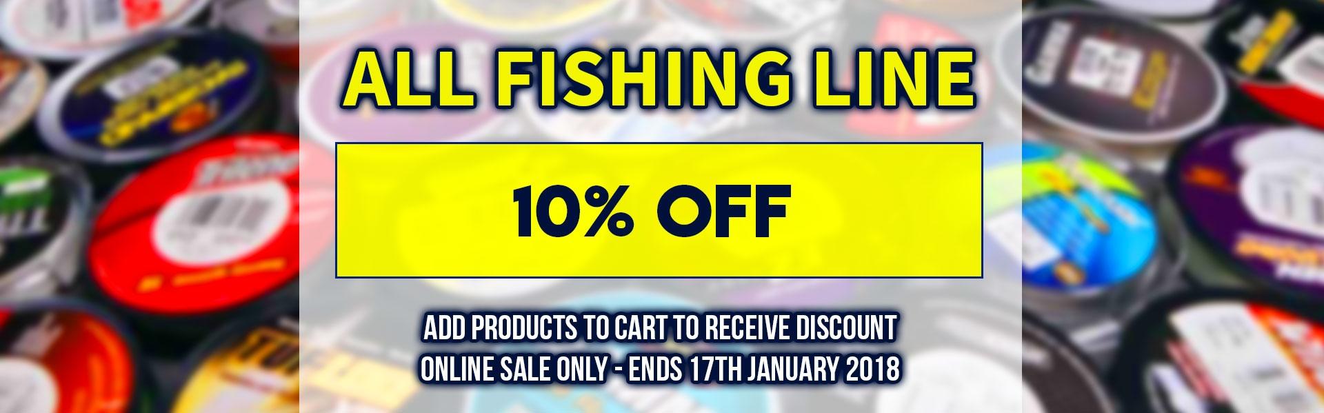 10% of Fishing Line