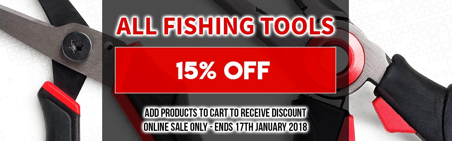 15% off Fishing Tools