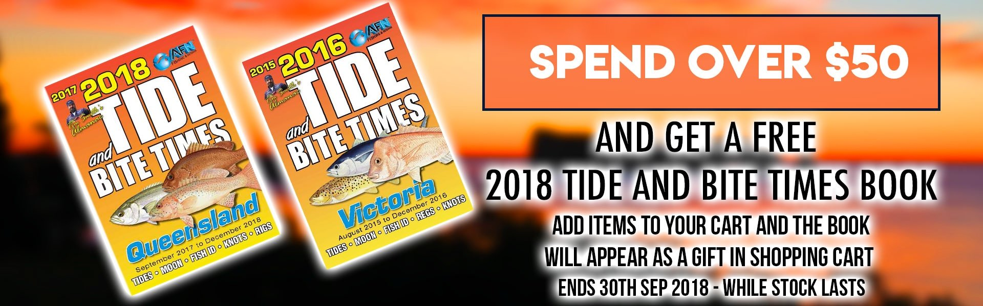FREE Tide Chart with Every $50 Spent