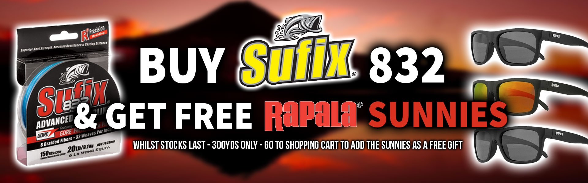 BUY SUFIX 832 AND GET FREE SUNNIES